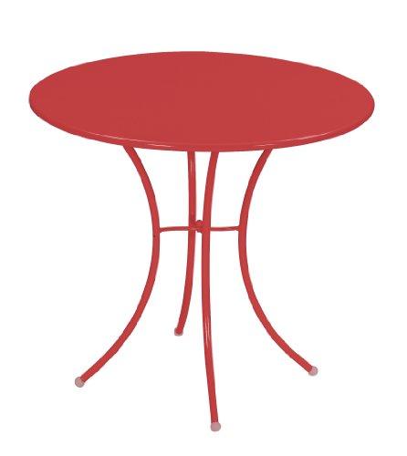 Emu 309064400 Pigalle Tisch 906, ø 80 cm, pulverbeschichteter Stahl, rot
