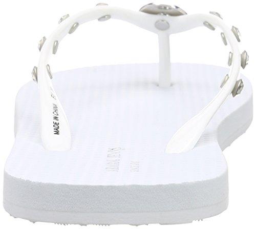 Armani Jeans C55f832, Sandales ouvertes femme Blanc - Weiß (BIANCO - WHITE 1C)