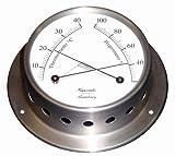 HANSEATIC Schiffs Thermometer/Hygrometer 110 mm Edelstahl matt geschliffen