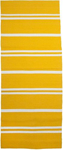 Linum Teppich TAO E97 gelb 70cm x 110cm Läufer aus Baumwolle