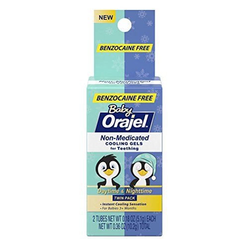 Orajel Non-Medicated Baby Teething Day & Night Cooling Gels 0.18 Oz Twin Pack (Pack Of 1)