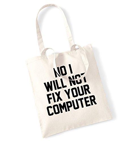 No I will not fix your computer tote bag