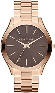 ساعة مايكل كورس كوارتز للنساء بمينا ساعة انالوج و سوار من الستانلس ستيل MK3181