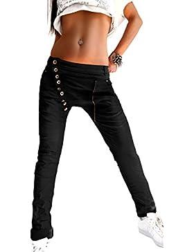 Mozzaar Damen Hose in Schwarz