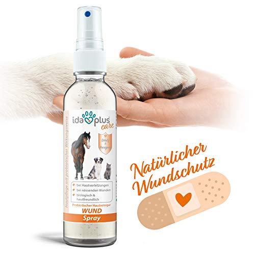 Ida Plus - Wund Spray für Hunde, Katzen, Pferde & mehr 200 ml - Schutzschild bei Hautverletzungen - Unterstützung der Regeneration -probiotisch, pH-neutral und besonders hautfreundlich