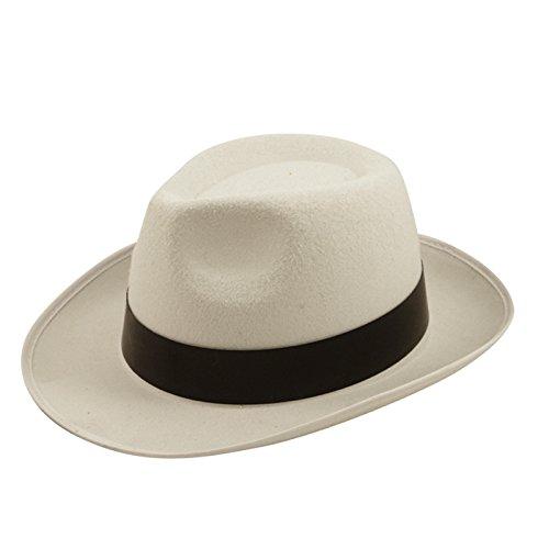 Al Capone Hut Filzhut Gangster Mob MICHAEL JACKSON Kostüm Weiß
