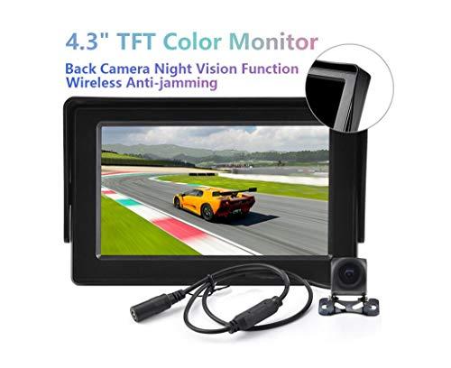 L-CAM 4,3 Zoll Auto Rückwärtsblick System, Wireless Monitoring Auto Rückansicht HD Kamera und Auto Display Set -