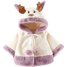 HCFKJ Ropa Bebe NiñA Invierno NiñO Manga Larga Camisetas Beb Conjuntos Moda Navidad Disfraz Ciervo Encapuchado