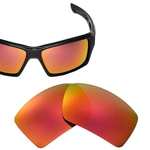 Cofery Ersatzgläser für Oakley Eyepatch 2 Sonnenbrille - Verschiedene Optionen erhältlich, Unisex, Fire Red - Mirror Coated Polarized, Einheitsgröße