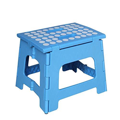 JOHNLI IKEA Kinderhocker,29 * 21 * 25cm tragbarer tragbarer Hocker, Haushaltsklapphocker für Erwachsene @ Blue,Camping Hocker
