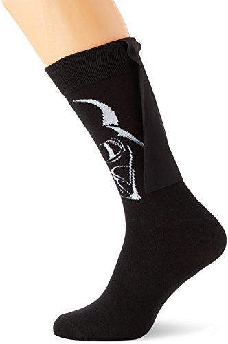 Meroncourt Herren Sneakersocken Darth Vader Cape Schwarz, 46-49 (Cape Herren Schwarz)