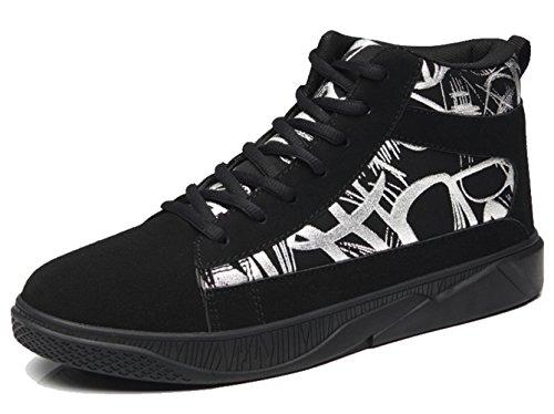 LFEU Homme Chaussure de Haute Basket Mode Pour Running Course Voyage Sneakers Skate Casuel Antidérapant Endurance 39-44