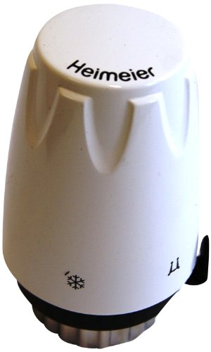 TA Heimeier 6700-00.500 Thermostat-Kopf DX mit eingebautem Fühl Skalenhaube weiß RAL 9016