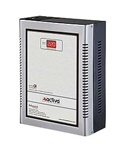 ACTIVA DIGITAL AC VOLTAGE STABLISER 4 KVA /165-290 VOLTS SILVER-BLACK