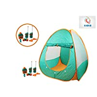 Kids Children Pretend Role Play Camping Set Play Game Tent Outdoor Walkie Talkie