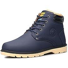 fd4a14b4 Botas Hombre Invierno,gracosy Botas de Nieve 2019 Zapatos Vestir Casual  Otoño Forro Cálido Al