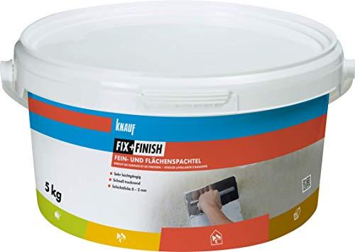 Knauf 593576 Fix+Finish Fein- und Flächenspachtel weiß 5 kg