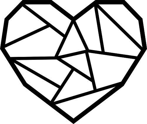 Hansmeier® Wanddeko aus Metall | 39 x 33 cm | Wasserfest | Für Außen & Innen | Metalldeko | Deko Industrial | Motiv Herz