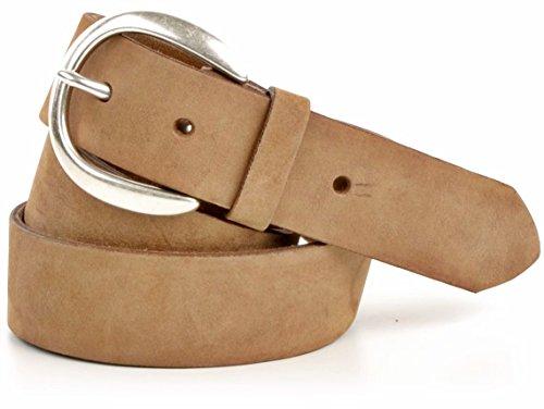 VANZETTI, v3629A6259, ceinture en cuir pour femme Marron - Hellbraun (Tobacco)
