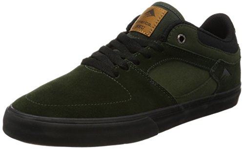 Emerica the Hsu Low Vulc, Chaussures de Skateboard Homme Green Black