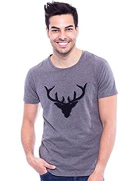 Krüger BUAM T-Shirt Wilder Hirsch - Grau
