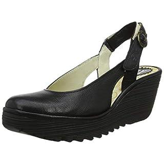 Fly London Women's YLUX979FLY Sling Back Heels, (Black 006), 6 (39 EU)