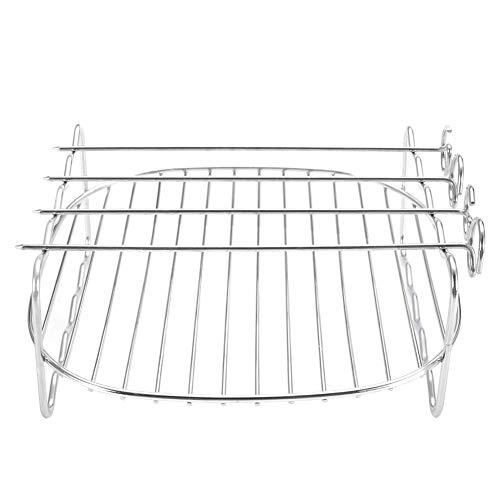 Ersatz-grill-racks (NANAD Doppeldeck-Backblechhalter Edelstahl Backen Grill Ersatz BBQ Rack Doppelschichtige Spieße Backblech für Air Fritteuse)
