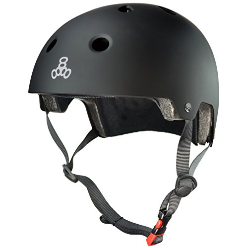 Triple 8 Kopfschutz Brainsaver Double Certification - Casco de Skateboarding, Color Negro, Talla L/XL