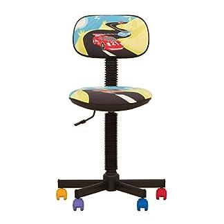 Bambo – Silla de escritorio infantil ergonómica, altura del asiento 42 cm-56 cm),altura del respaldo ajustable/giratorio 360 °/ruedas multicolor