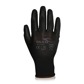 Galilee Lot de 12paires de gants de jardin, gants de travail, pour homme, taille: 9, revêtement respirant