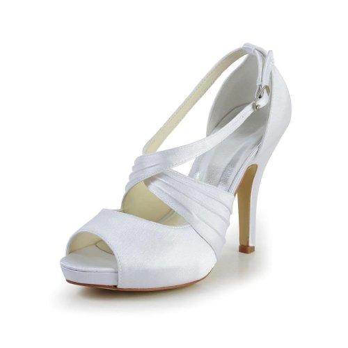 Jia Jia Wedding 37050 chaussures de mariée mariage Escarpins pour femme Blanc