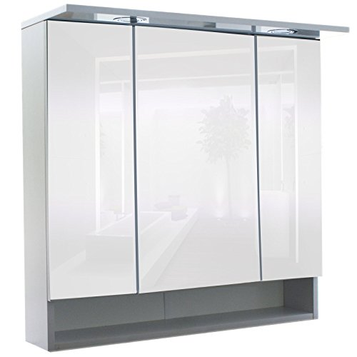 #Spiegelschrank Badspiegel Badschrank Badezimmerschrank mit Beleuchtung Weiß#