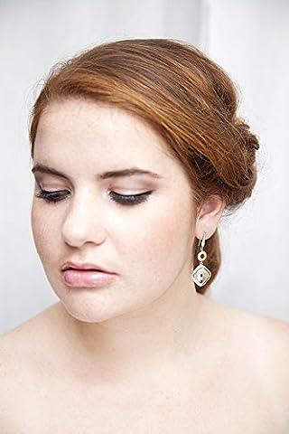 Boucles d'oreilles mariée - Sophia - Bijoux mariage Or - bridal earring gold plated