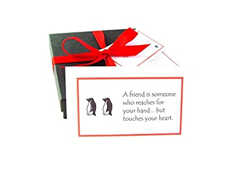 'Best of Friends' handmade friendship gift: 52 quote cards all about the joy & value of friendship, gift boxed & personalized with a poem & mini chocolate balls. Fab birthday / Christmas / new home / good luck / friendship gift for your BFF! (Penguin