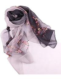 ZHRUI Châles de Couleur dégradée pour Les Femmes Motif de Fleurs Confort  Mode Foulards légers ( 720c3ec9775