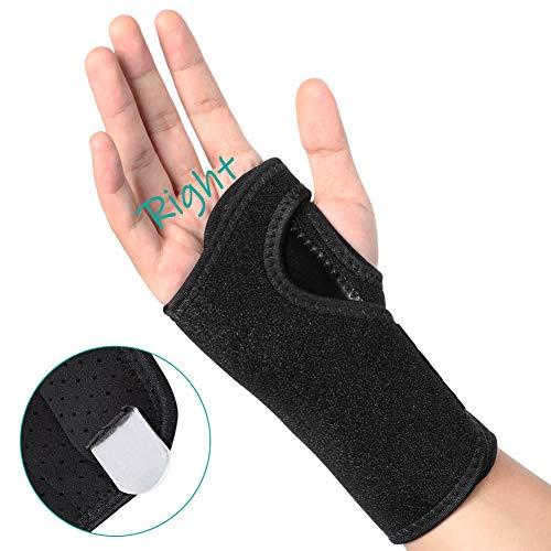 Handgelenk Bandagen Schienen, Atmungsaktive Karpaltunnelsyndrom Handgelenk Support Kompressionsband für Karpaltunnel, Arthritis, Sehnenentzündung. Karpaltunnelschiene zur Schmerzlinderung, Rechte hand -