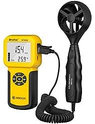Holdpeak 826A Anemómetro Digital, Velocidad del Viento / Metro de la Temperatura, Dispositivo Portátil
