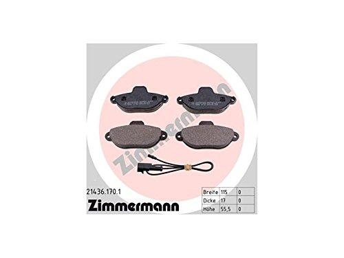 Preisvergleich Produktbild ZIMMERMANN 21436.170.1Serie Bremsbeläge, vorne, 8Federn, 4Platten Mikrofonspinne, inklusive Zubehör