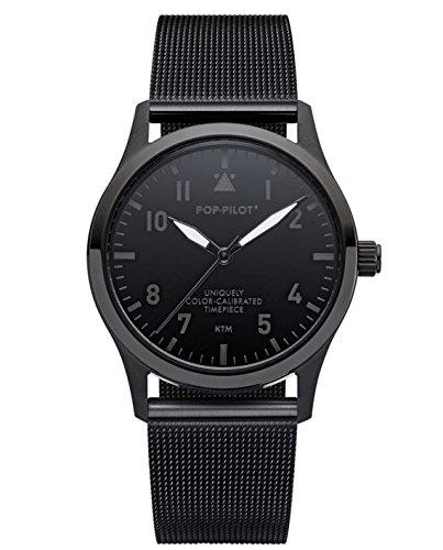 POP-PILOT® Modell KTM I schwarze Fliegeruhr Uhr - 2