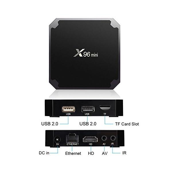 X96-TV-Box-Android-81-Go-4K-Botier-Numrique-et-Intelligent-pour-la-Tlvision-Bote-Tl-avec-TlcommandeCPU-Amlogic-S905X2-Quad-Core-Arm-Cortex-A53-Connexion-WiFi-H265