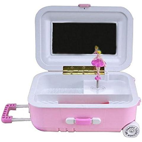 XQXTrolley maleta caja de música baile chicas escritorio Contraseña caja adornos