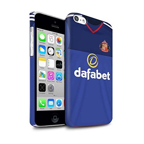 Offiziell Sunderland AFC Hülle / Matte Snap-On Case für Apple iPhone 5C / Pack 24pcs Muster / SAFC Trikot Home 15/16 Kollektion Torwart
