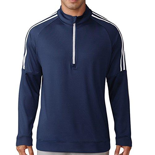 Adidas 3-stripes Quarter Zip Sweater de Golf, homme M bleu