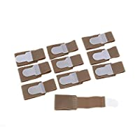 OTOTEC Broken Toe Wraps 10 Pcs Toe Splint Toe Cushioned Bandages Finger Protectors Straightener Toe Separators