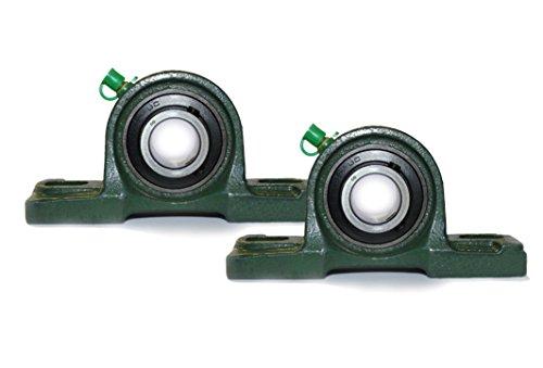 Preisvergleich Produktbild 2x UCP 208 / UCP208 Stehlager 40mm Welle (2-Loch Lagerbock) mit Metallschutzlack für Innendurchmesser 40mm Bohrung / Gehäuselager / Stehlagereinheit P208