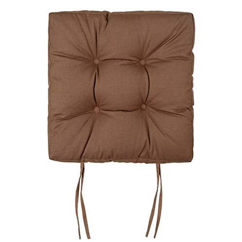 MYF&GBB Verdicken Sie Stuhlkissen, 40Cm quadratisches aufgefülltes Stuhlkissen, Klassenzimmer-Büro-Kursteilnehmer-Stuhlkissen-Schemel-Fußboden-Kissen Tatami Haushalts-Furz-Auflage,Brown