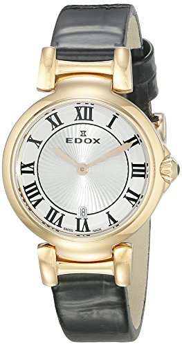 Edox Women's 57002 37RC AR LaPassion Analog Display Swiss Quartz Black Watch