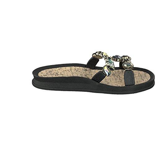 Linea Scarpa Corfu Pantofole Signore Muli Nere