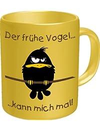 """Tasse Kaffeebecher mit Motiv/Spruch """"Der frühe Vogel"""" Höhe: ca. 9,7 cm, Ø ca. 8,2 cm Material: Keramik Füllmenge: 300 ml Tasse im Geschenkkarton"""