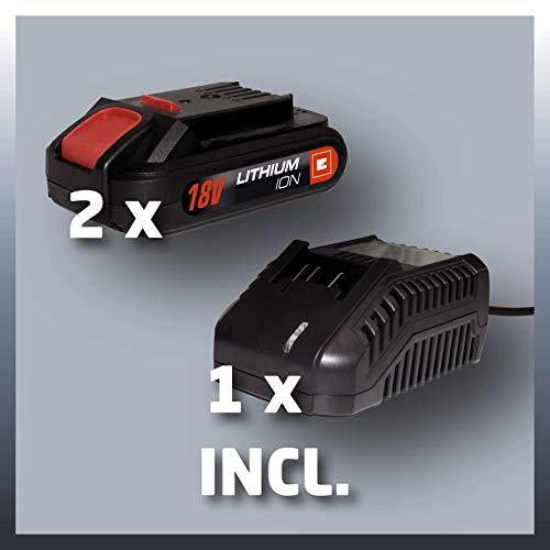 Einhell TC-CD 18-2Li Kit - Taladro a batería con juego de 214piezas (maletín de aluminio)